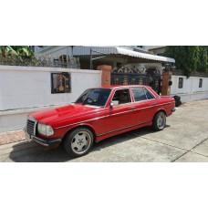 (ขอบคุณลูกค้าจากปากเกร็ด) Benz W123 สีแดงเพลิง ชุดแต่ง amg เครื่องยนต์ 1Jz-ge ติดแก็ส Lpg